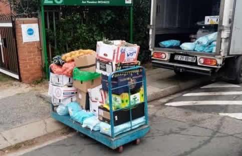 Food parcel delivery
